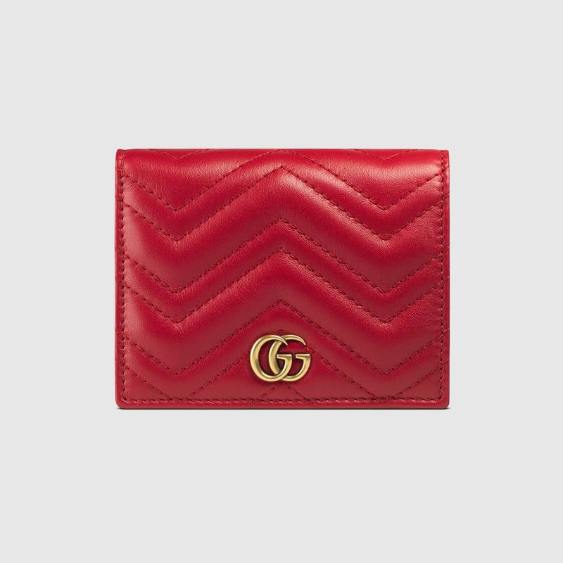 Gg marmont wallets for women leather card