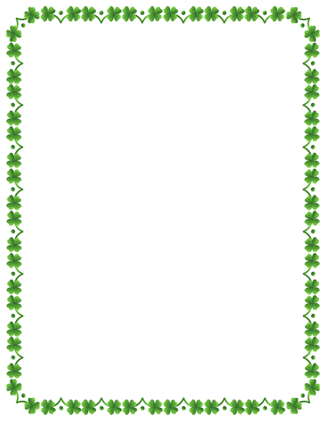 Printable Four Leaf Clover Border Free Gif Jpg Pdf And Png Downloads At Http Pageborders Org Downl Page Borders St Patricks Day Clipart Borders For Paper