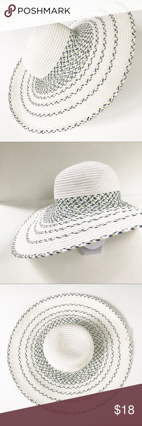 Nwt Packable Large Brim Floppy Straw Like Hat Accessories Hats Fashion Design Brim