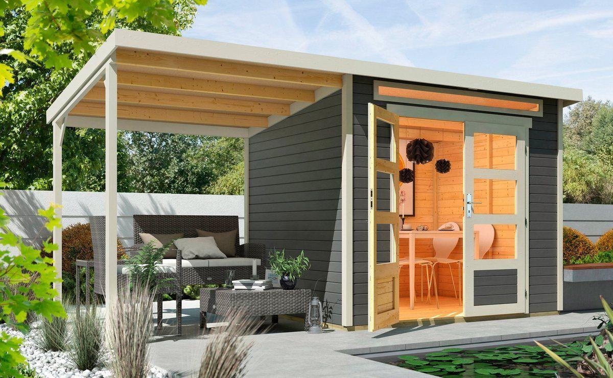 FINNHAUS Set Gartenhaus »Venlo A«, BxT 441x236 cm, inkl