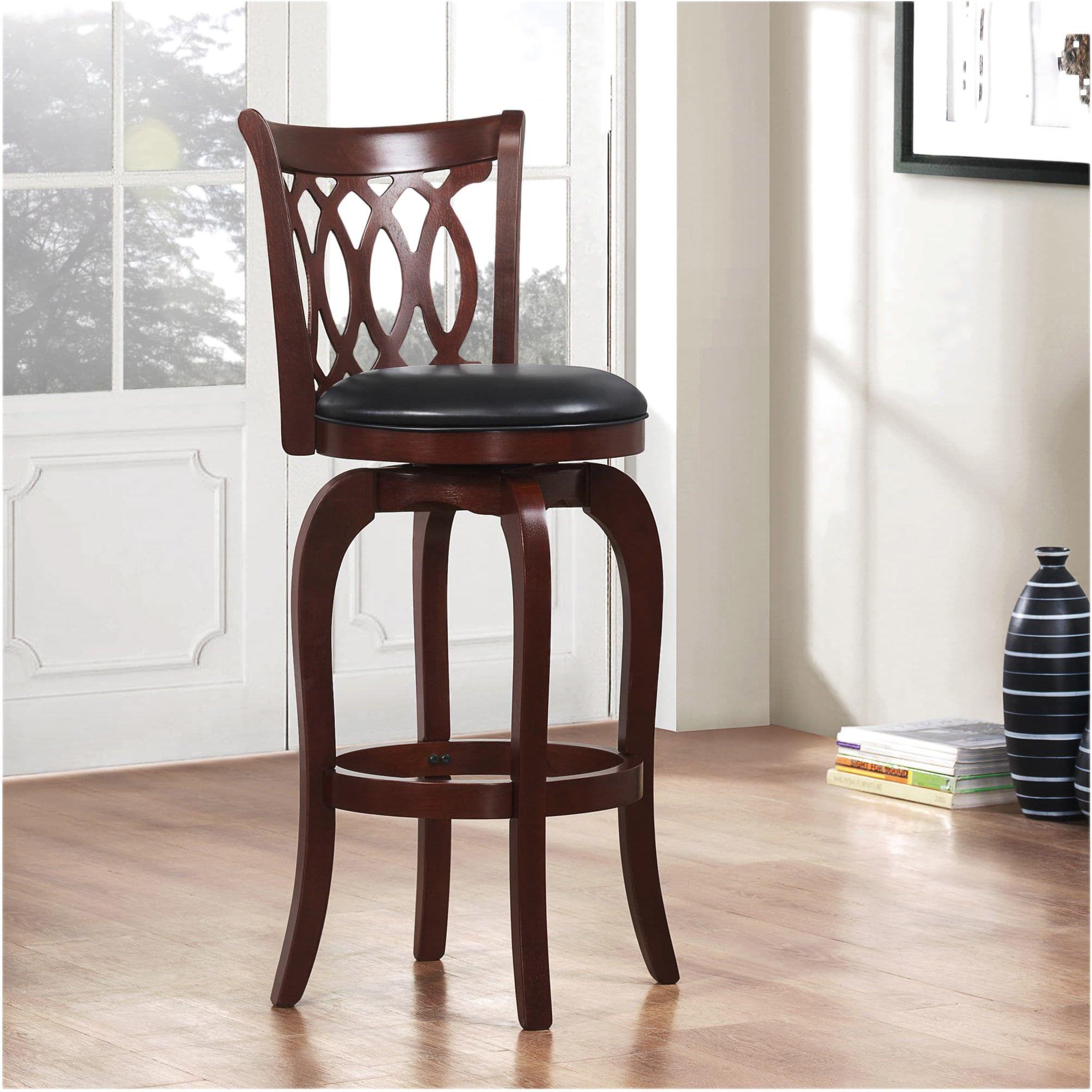 Groovy Verona Cherry Swivel 29 Inch High Back Barstool By Inspire Q Dailytribune Chair Design For Home Dailytribuneorg