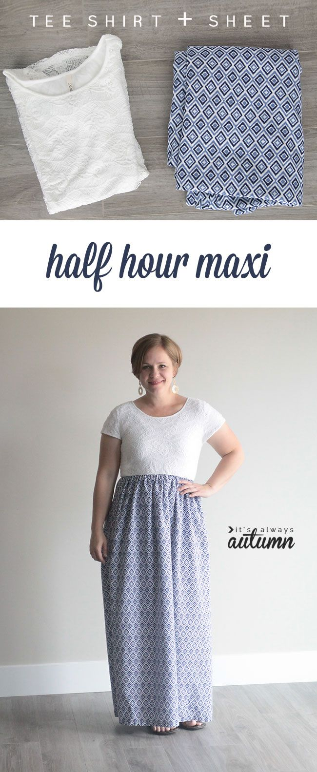 How to make a cap sleeve maxi dress in minutes gathered skirt