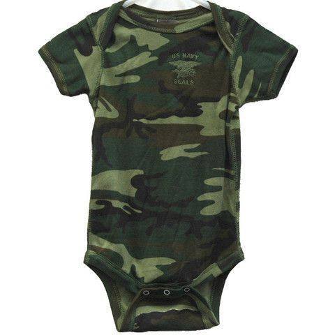 c7323e991 Baby Green Camo Onesie - UDT-SEAL Store Navy SEAL Tutine Neonato, Us Navy
