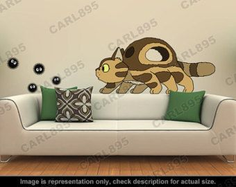 Inspiré de Totoro - Little Catbus / Sprites sticker Art appliques de suie
