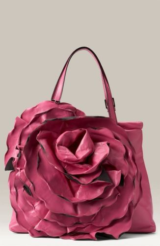 Valentino Garavani Rose Rosette Flower Petale Tote Shopper Bag Pink ... 408b7c6a317e3