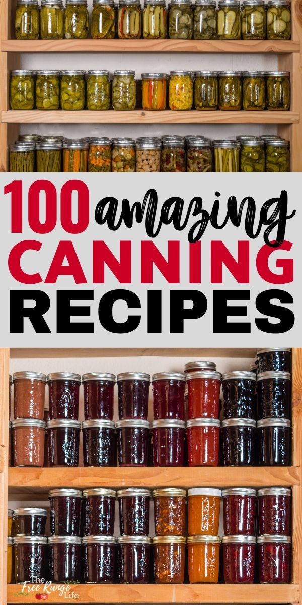 Do you have a bountiful garden? Check out these 100+ home canning recipes and resources so that you know exactly how to preserve all that harvest! Food Preservation | Home Canning | Pressure Canning | Water Bath Canning | How to Can at Home