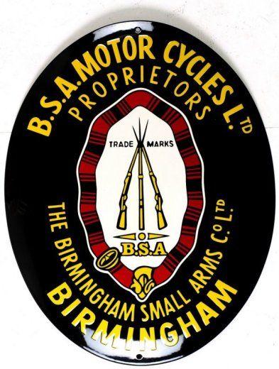CAR STICKER BSA  MOTORCYCLE DECAL