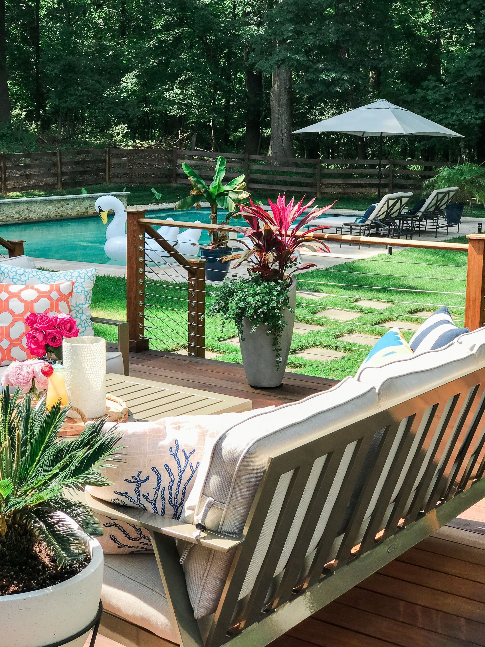 Luxury Pool Patio Furniture Layout Outdoor Living In 2020