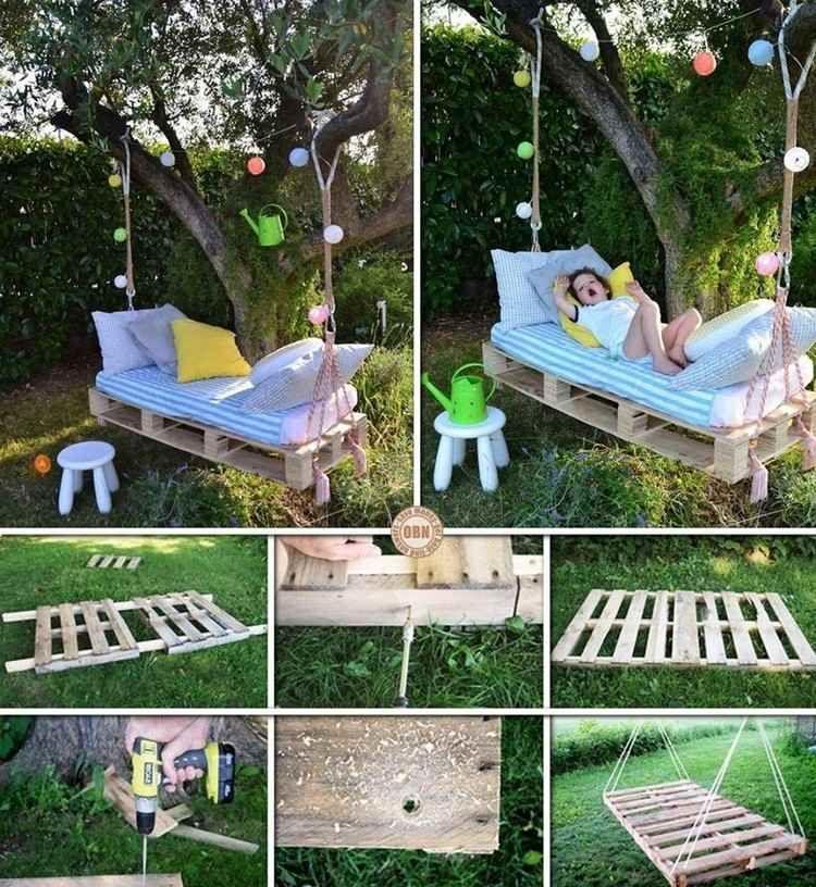 schaukelbett im garten für die kinder bauen | einrichtung, Garten und erstellen