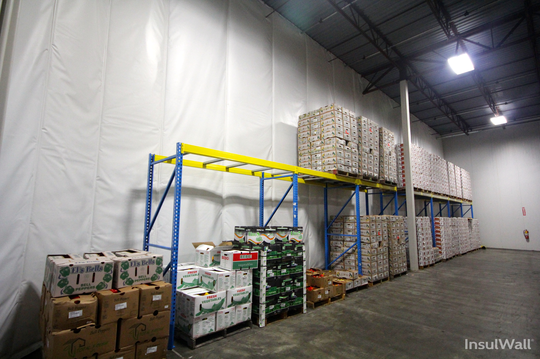Insulated curtains industrial - Randall Insulwall Insulated Warehouse Curtain Wall Divides Cooler Space Www Randallmfg