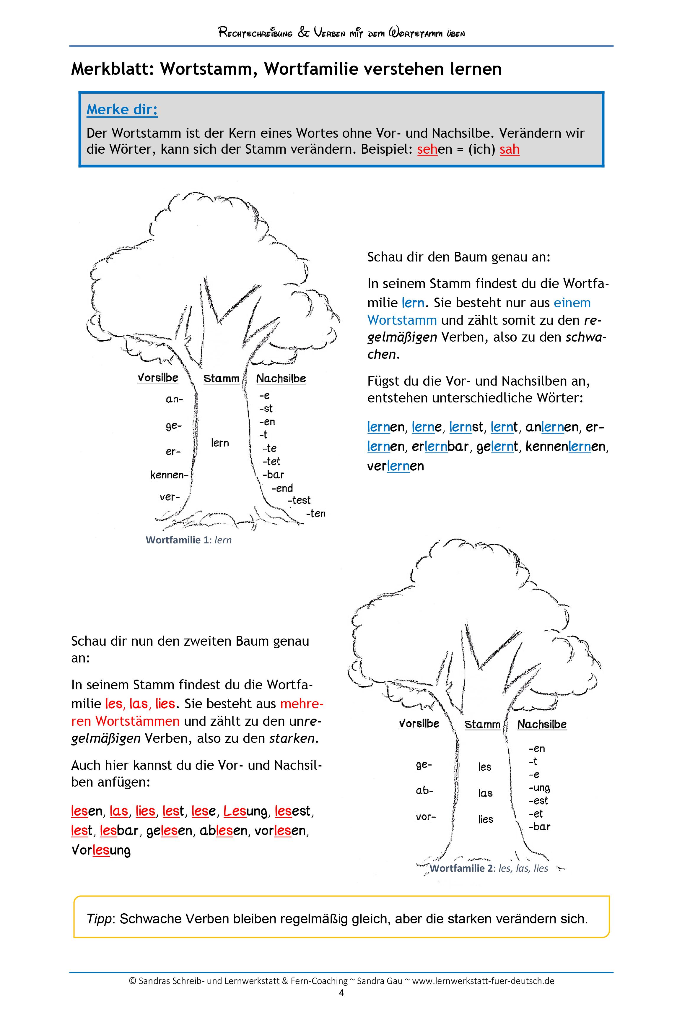 rechtschreibung und verben nach dem wortstamm ben schreiben deutsch unterricht deutsch. Black Bedroom Furniture Sets. Home Design Ideas