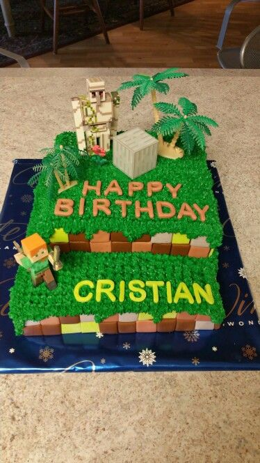 Minecraft Birthday Cake For 6 Year Old Boy Minecraft Birthday