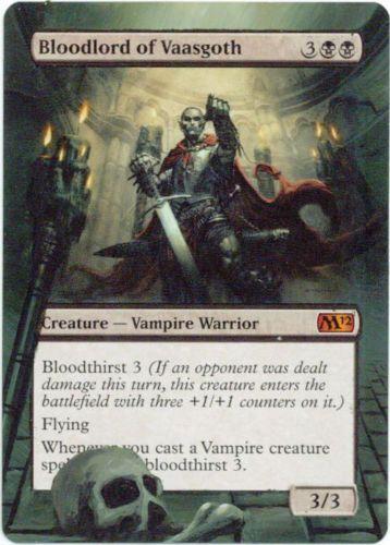 MTG Magic the Gathering 1x BLOODLORD OF VAASGOTH NM Mythic M12