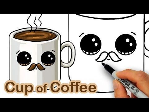 how to draw a cute coffe