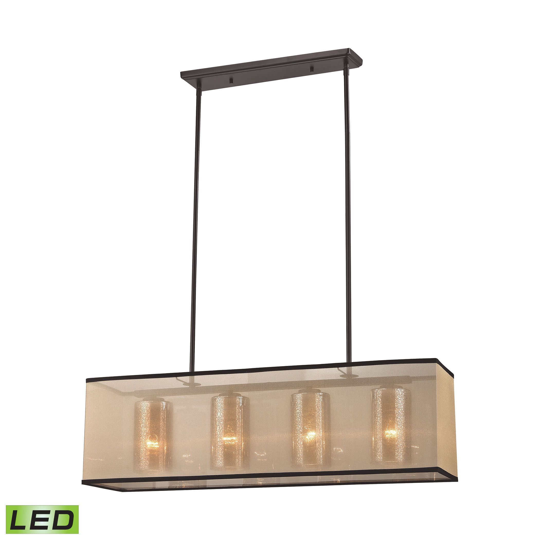 Elk Diffusion 4 light LED Chandelier in Oil Rubbed Bronze Oil