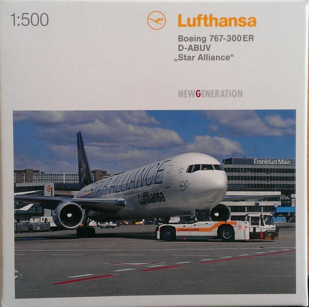 502795 Lufthansa Boeing 767 300 Star Alliance D Abuv Herpa Wings 1 500 Selten Herpa Wings