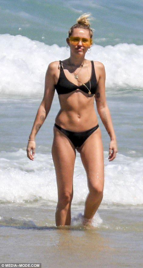 Miley cyrus skimpy bikini