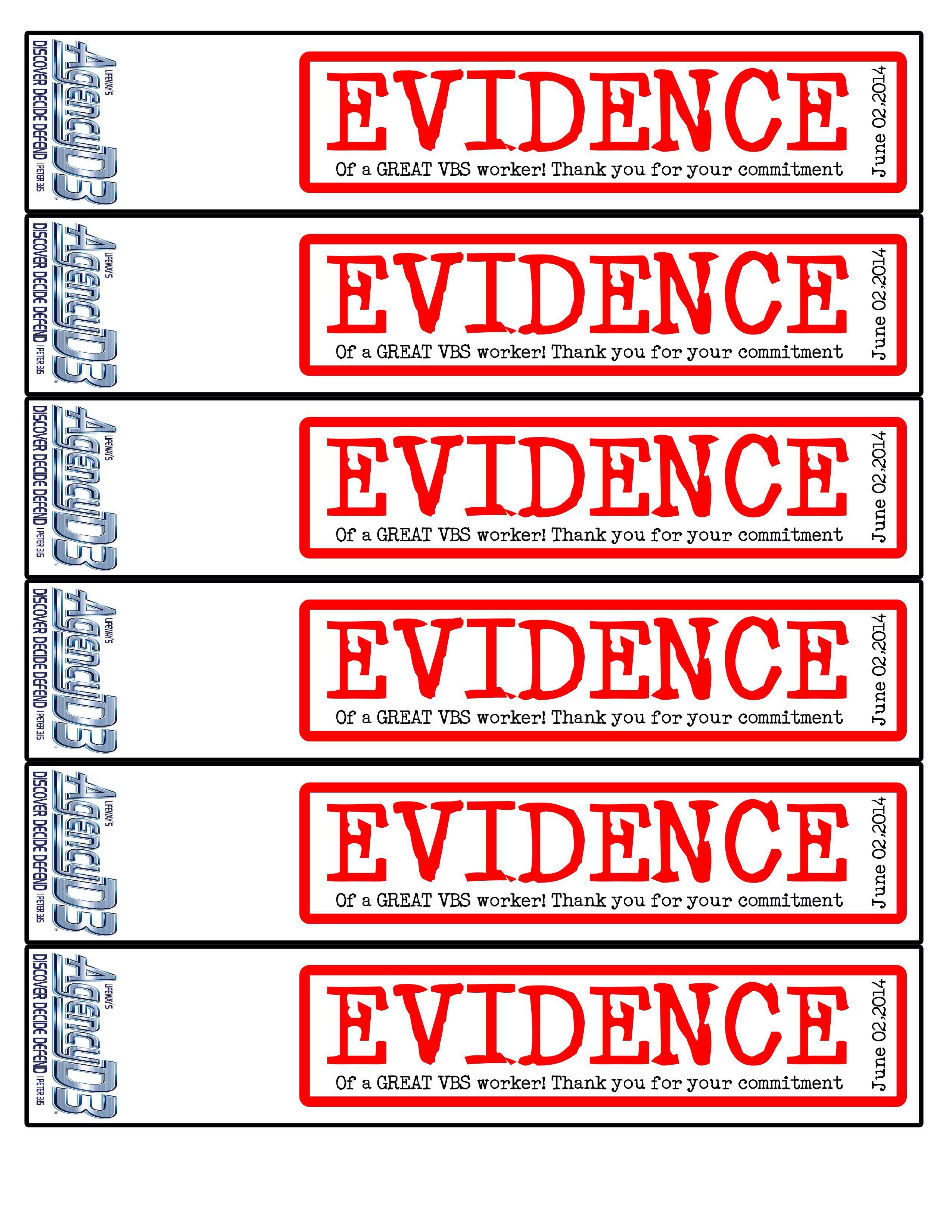 "1,000 3½""x 6"" evidence labels | shopevident. Com."