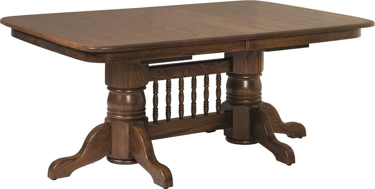 Cussetta Double Pedestal Table Pedestal Table Leaf Table Table