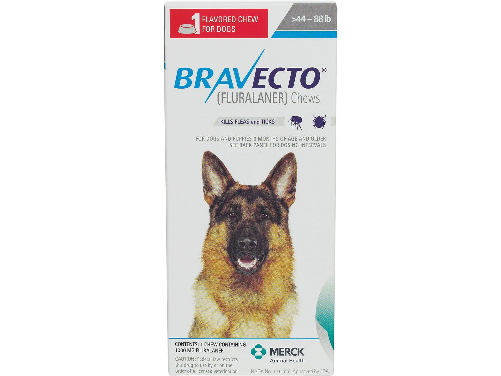 Bravecto Flea Tick Treatment Chewable For Dogs 1125 Mg2 Ct 44