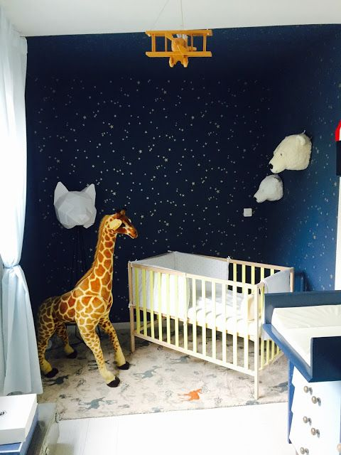 la cuisine d 39 achille la chambre d 39 achille papier peint cole and son etoile bleu nuit lit. Black Bedroom Furniture Sets. Home Design Ideas