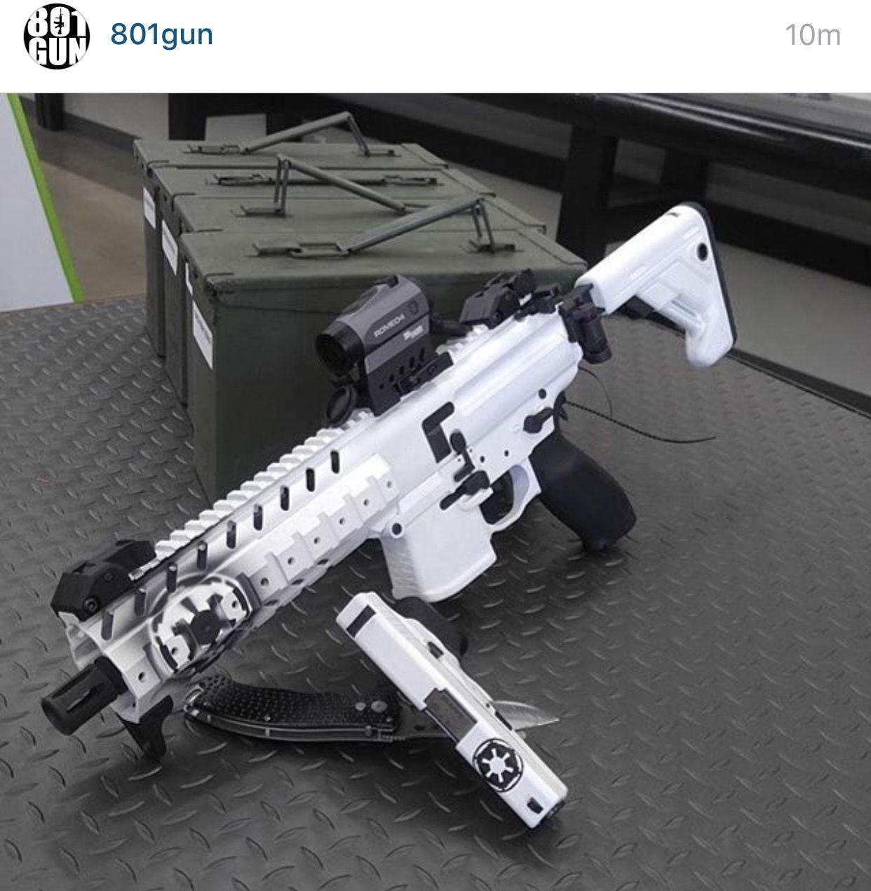 Custom Paint Matching Ar Sbr And Glock Badass Weapons