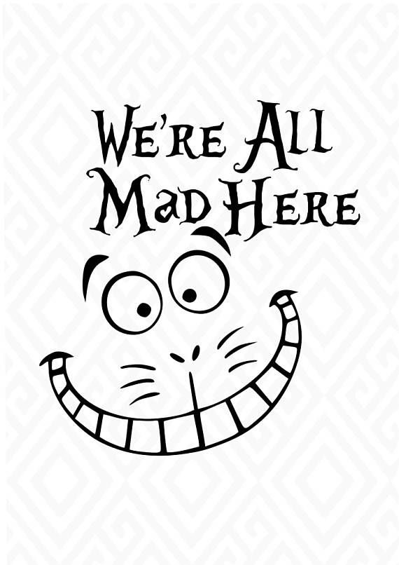 ALice in Wonderland Cuttable Designs in SVG DXF PNG Ai
