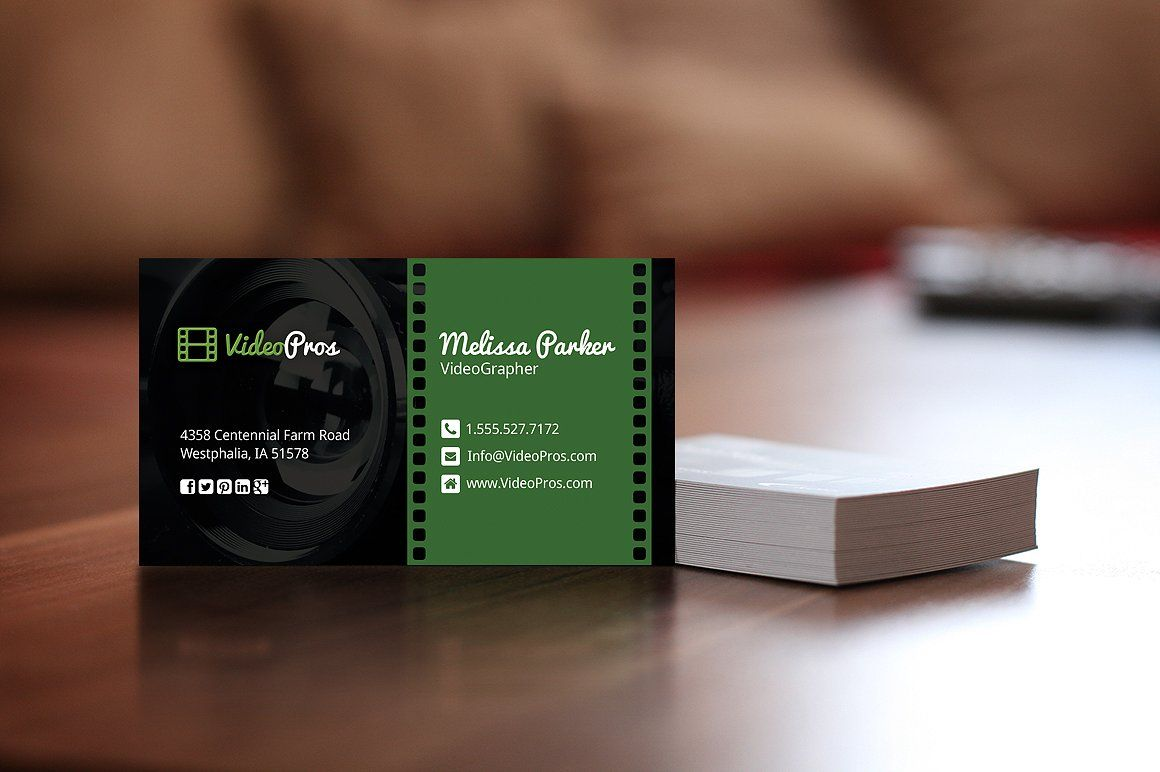 Videography Business Card Graphic Design Business Card Business Card Photoshop Business Card Dimensions