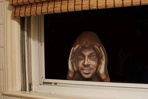 Scary Peeper Cling Window Mask
