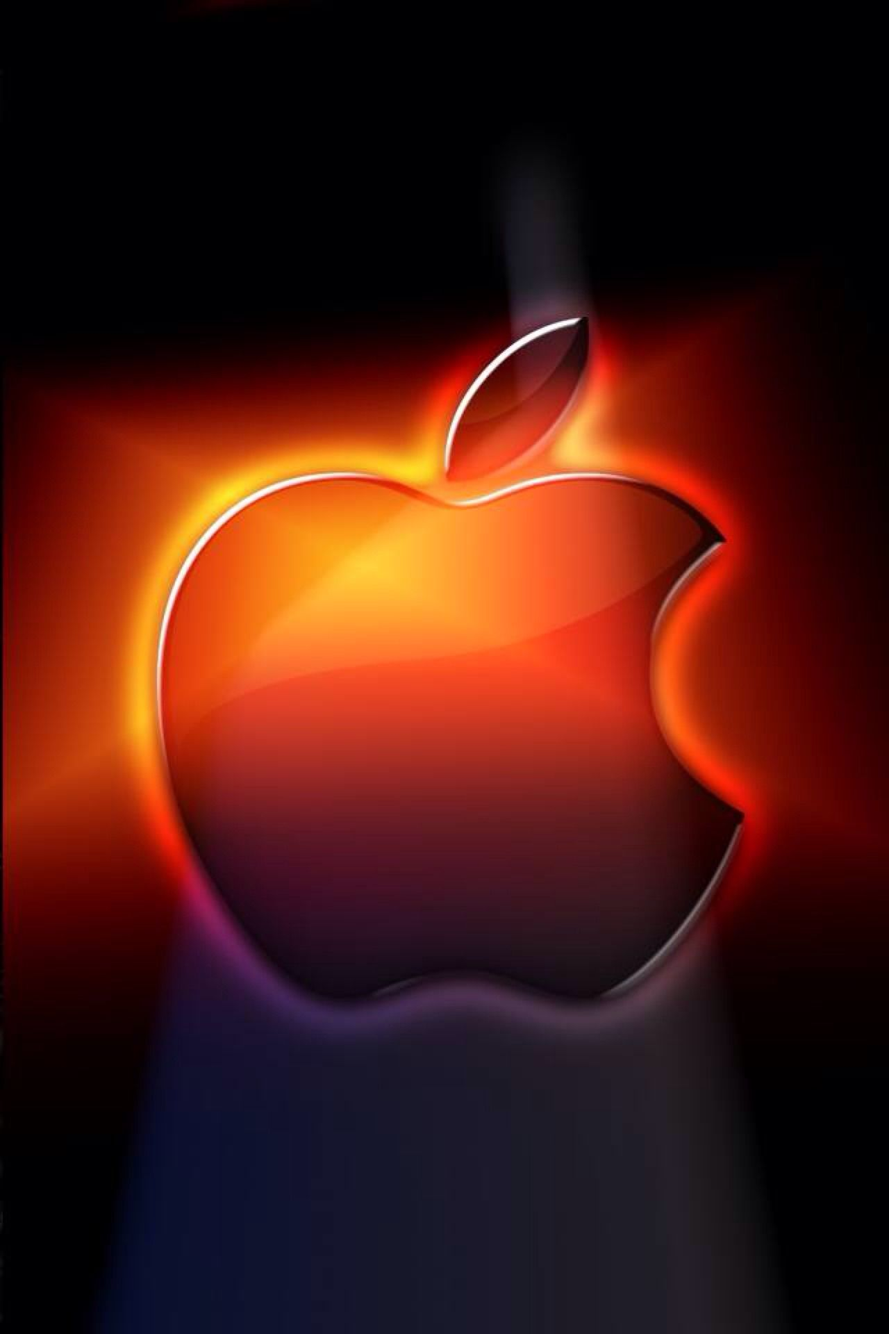 Pin By Tracy Milewski On Apple Logo Red Wallpaper Iphone