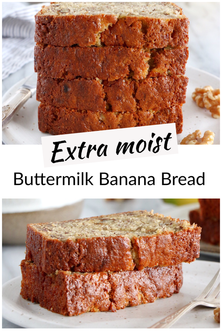 Buttermilk Banana Bread Recipe Buttermilk Banana Bread Banana Bread Bread