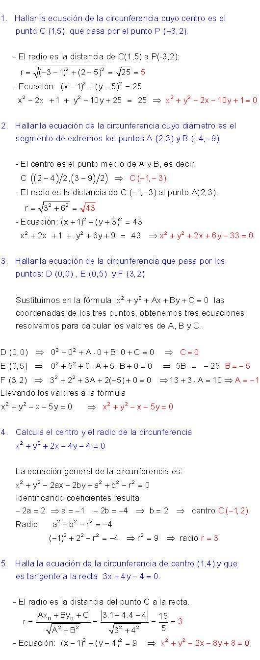 Ecuación Circunferencia Ecuacion De La Elipse Ecuaciones Circunferencia