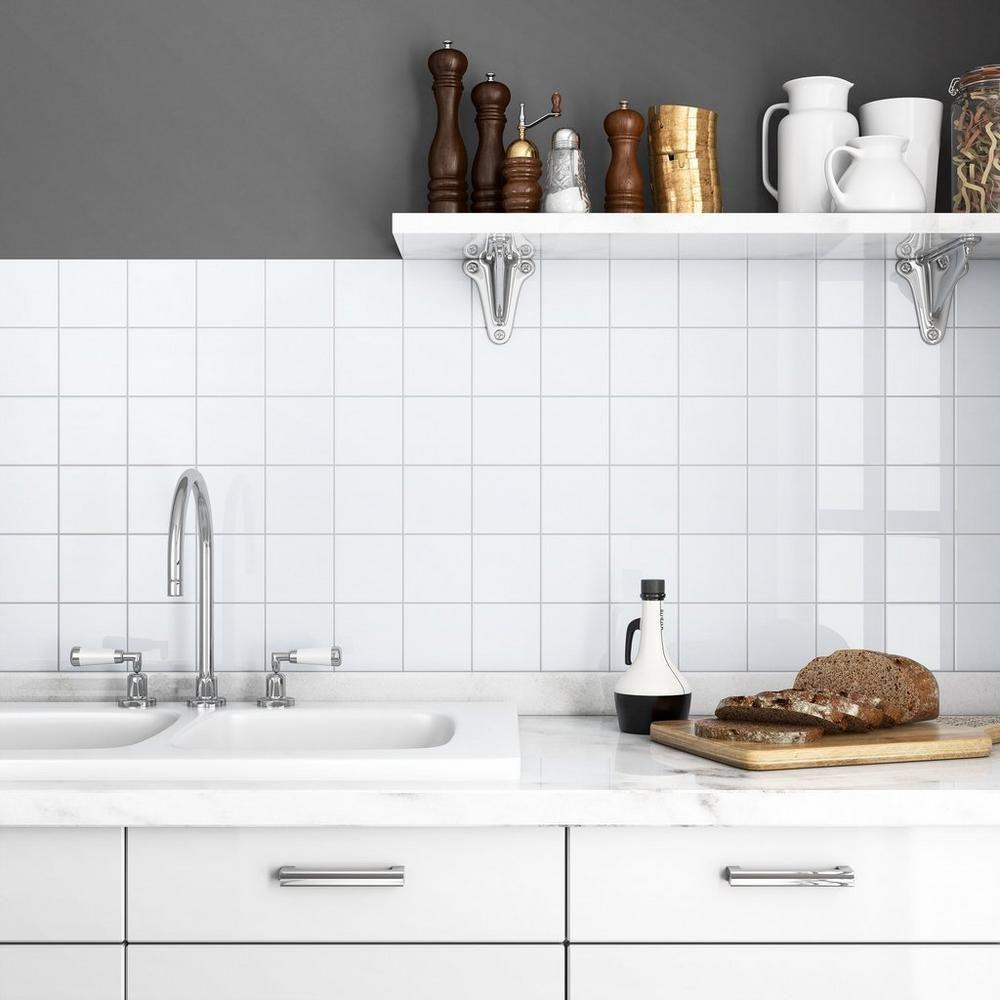 Bright White Ice Ceramic Wall Tile Floor Decor Ceramic Wall Tiles White Ceramic Tiles White Tile Backsplash