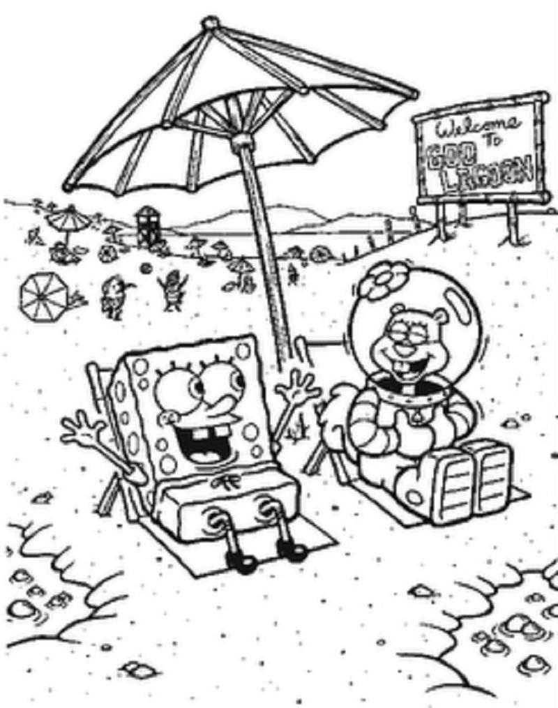 Bob-Esponja-y-Arenita-en-la-playa.png (800×1015) | Dibujos para ...