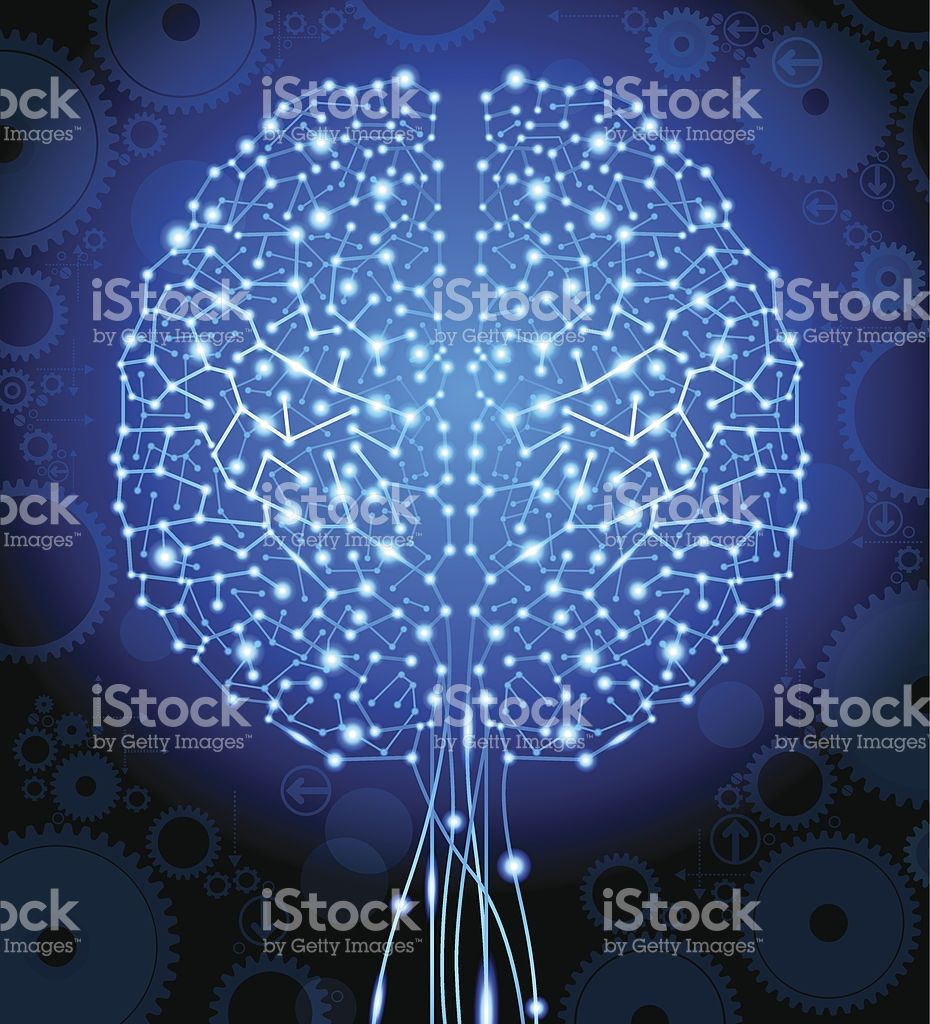 The Concept Of Thinkingbackground With Brainthe File Is Saved In Circuit Board Vector Illustration Royalty Free Stock Image Brain And Form A Tree Art