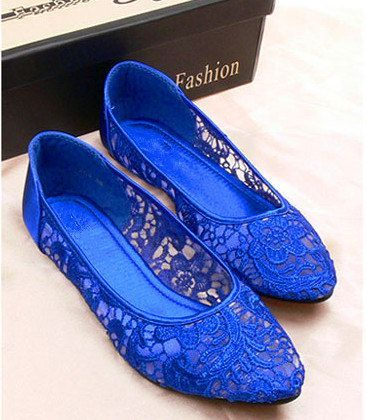 Wedding shoes blue flats