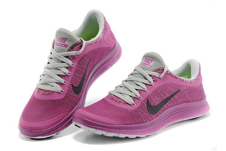 Nike Free 3.0 V5 EXT Dames Amaranthine Grijs Zwart