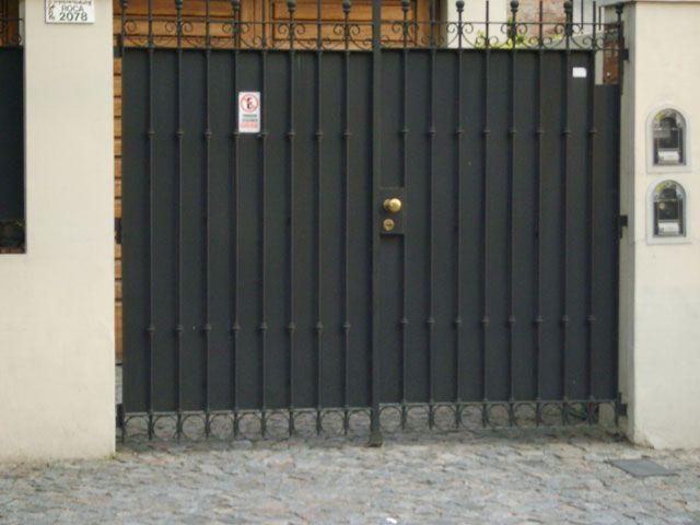 Trabajos de herreria puertas y portones de rejas - Bisagras puertas metalicas ...