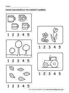 Colorear Cantidad 1 Al 20 Para Preescolar Buscar Con
