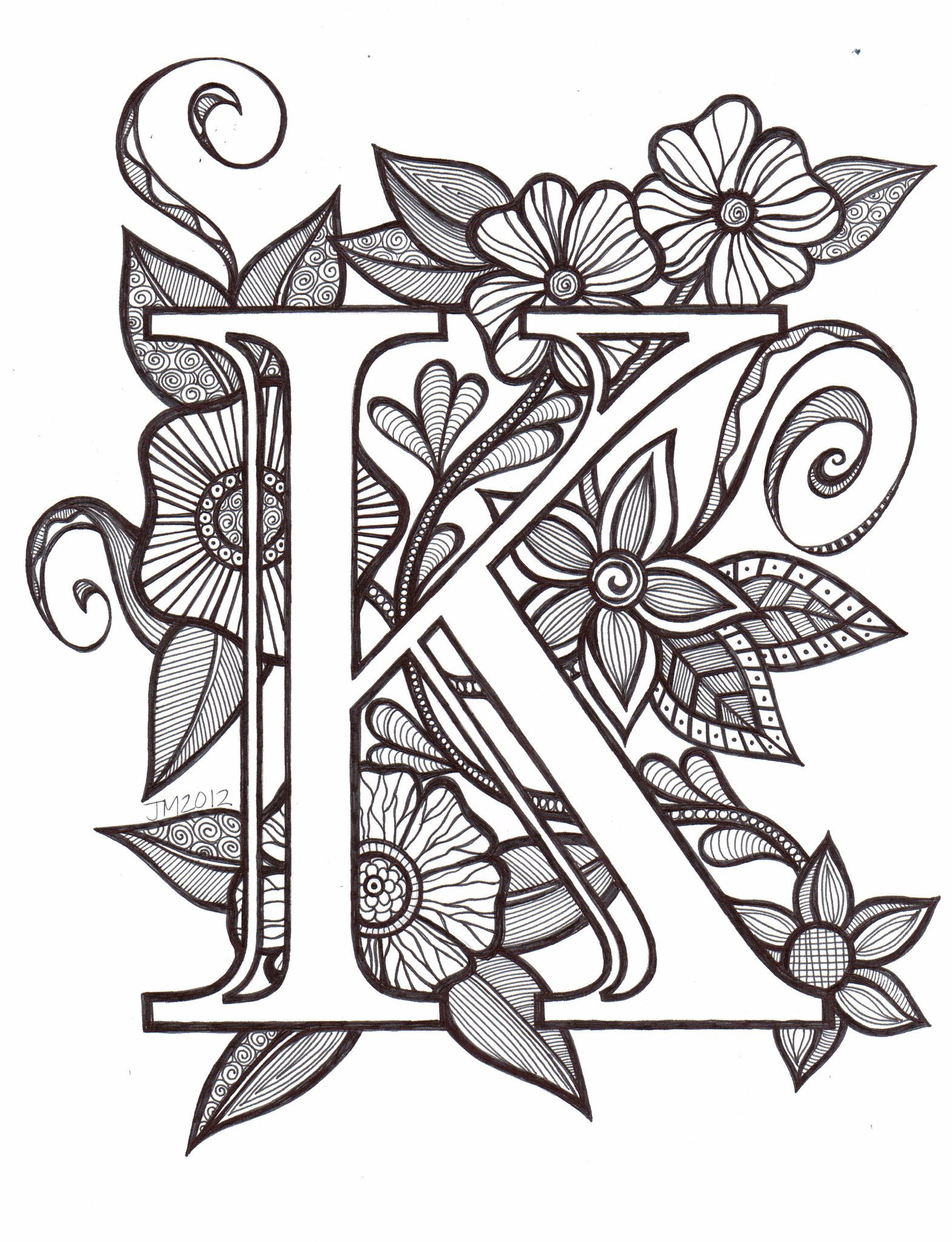 Kscn0006 Coloring Pages Fancy Letters Lettering