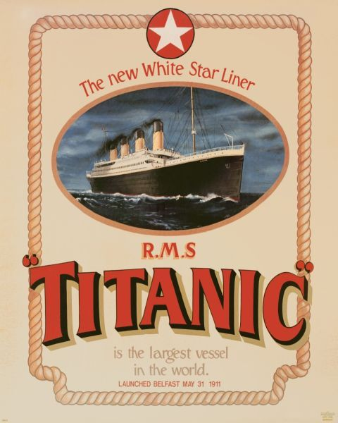 poster white star line rms titanic titanic pinterest capricornio p ster y cumplea os. Black Bedroom Furniture Sets. Home Design Ideas