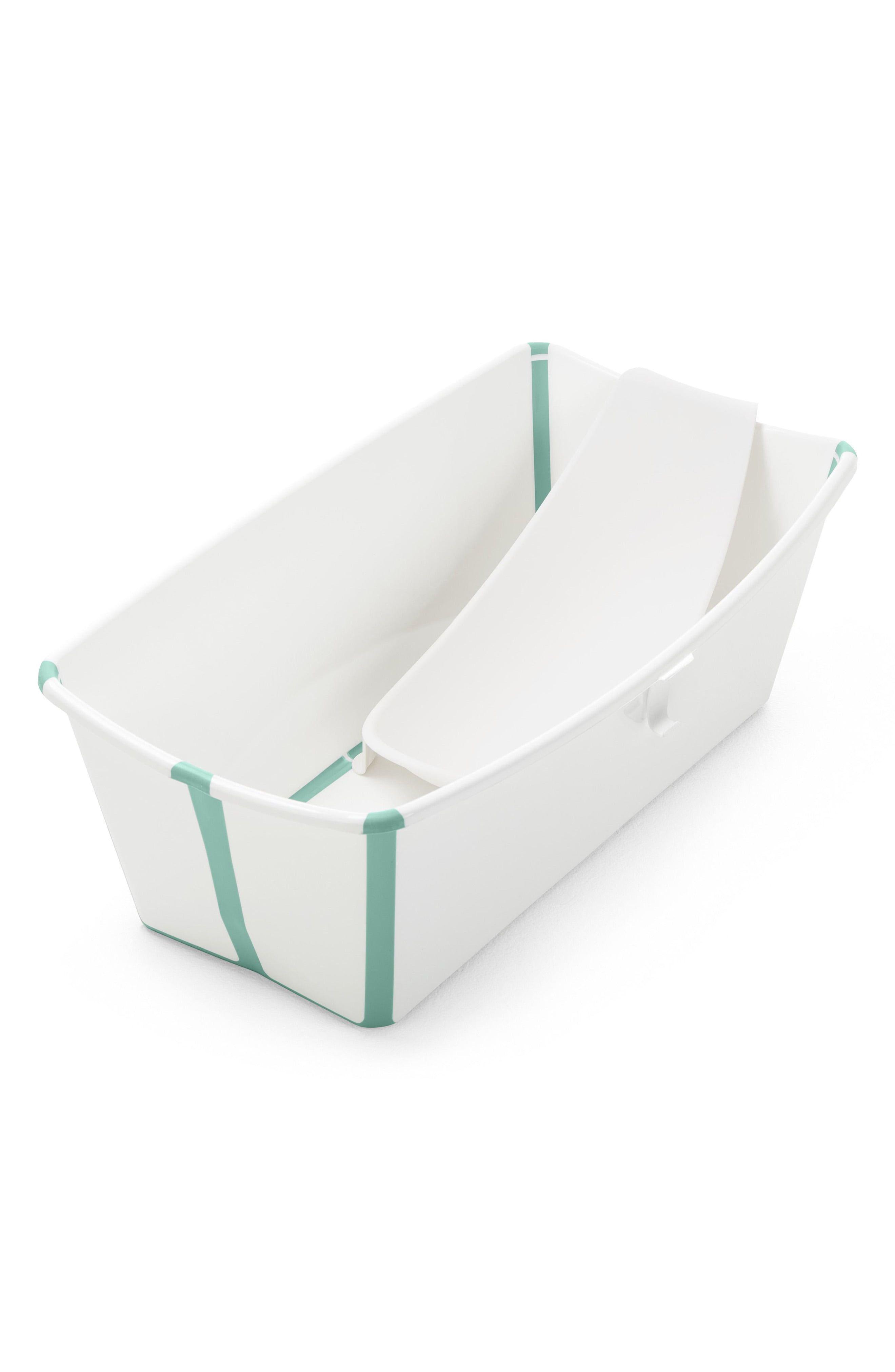 Stokke Flexi Bath Foldable Baby Bath Tub With Temperature Plug Infant Insert Bathtub Tub Bath Support