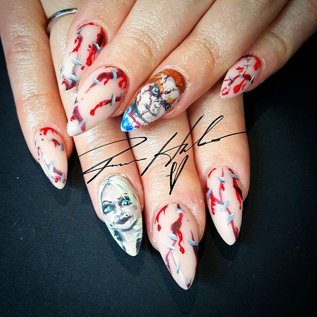 ramonahales | Nail studio, Painted nail art, Halloween nails