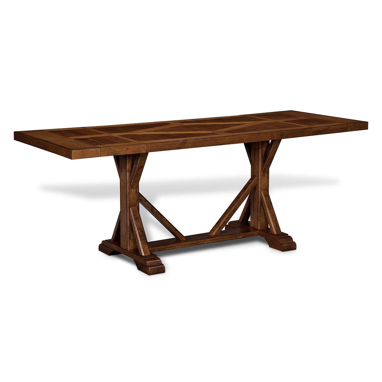 $79900Austin Walnut Dining Room Counterheight Table  American New American Signature Dining Room Sets Inspiration Design