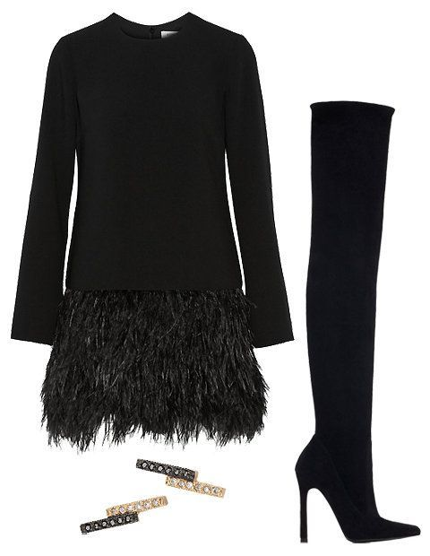 For an elevated approach to feathers, go for a sleek