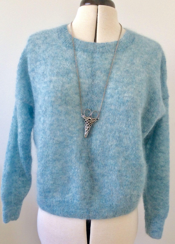 90ac5c25 Skye genser / Skye sweater Pattern from Sandnes Garn, knitted in Tynn Silk  Mohair.