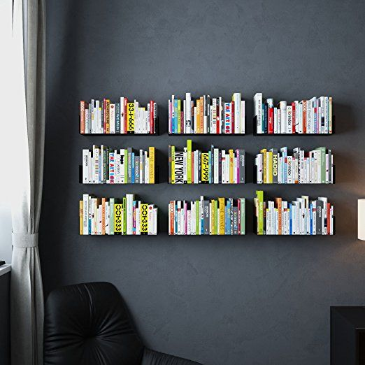 Amazon.com: Floating Wall Mount Metal U Shape Shelf Book CD DVD Storage  Display