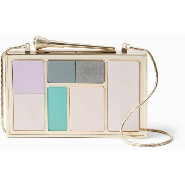 Kate Spade Ooh La La Makeup Palette Clutch (€260) ❤ liked on Polyvore featuring bags, handbags, clutches, kate spade handbag, pink purse, kate spade, kate spade purses and pink handbags