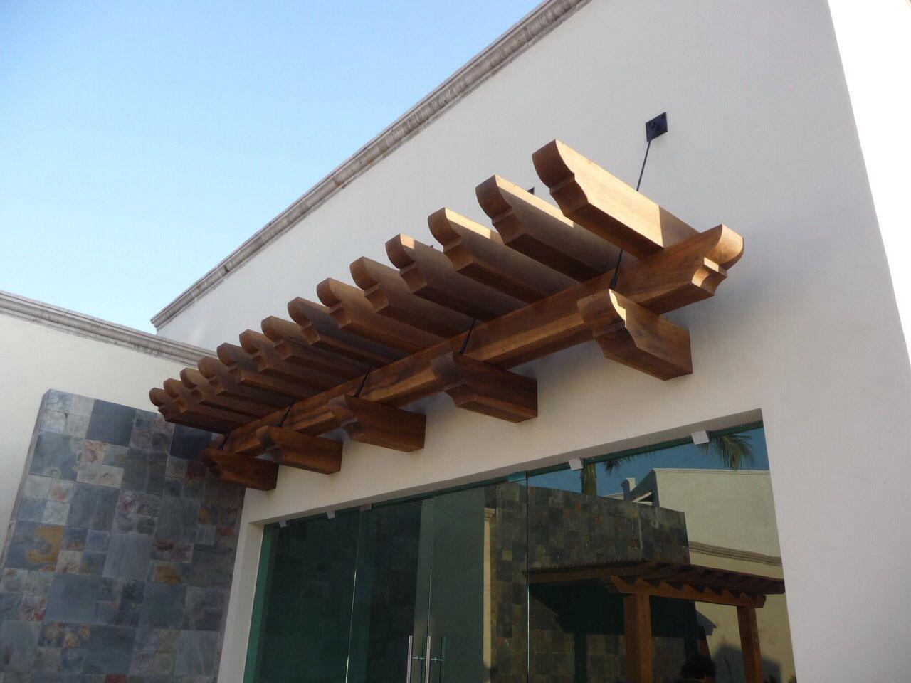 Pergola De Madera Pucte Empotrada A Muro By Tejaban Es