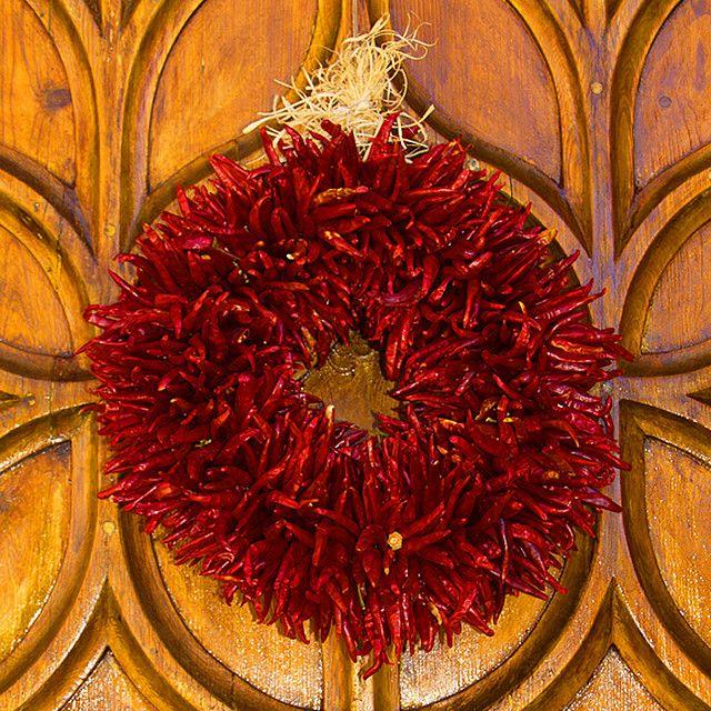 Chili Ristra Wreath, Santa Fe New Mexico